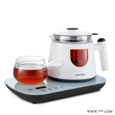 夏新JP-ZC06D多功能家用黑茶玻璃煮茶器茶企定制礼品定制安化黑茶煮茶器白茶煮茶壶蒸汽煮茶