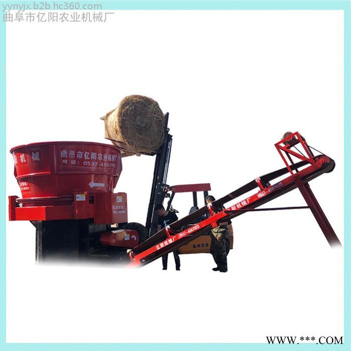 柴油机带的粉碎机 草捆旋切机 大型花生秸秆粉碎机厂家