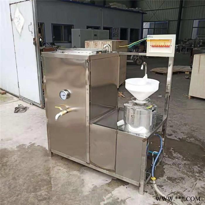 嘉运 全自动大型商用型豆腐脑家用豆浆磨浆一体小型花生石磨做豆腐机器