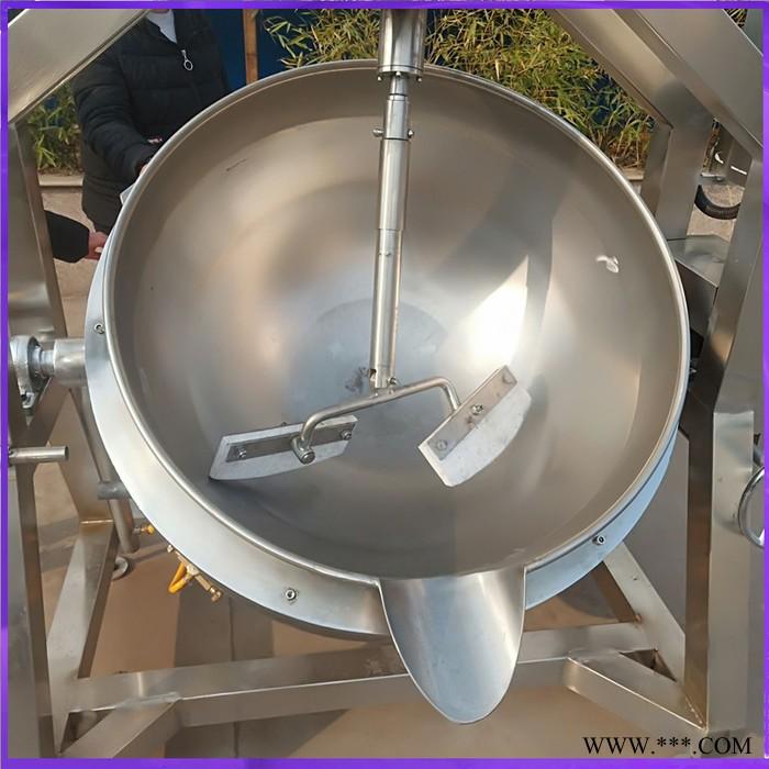 众惠100L   不锈钢花生酥糖拌料机 火锅底料炒料机 果汁浓缩锅可按需求定制