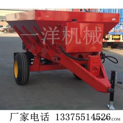9禹鸣机械DFC-1000 四轮拖拉机牵引式农机肥撒粪机撒粪车有机肥