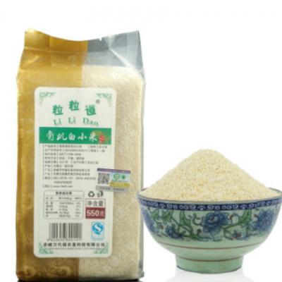 粒粒道敖汉特产白小米 孕婴童有机白小米 内蒙古特产 550g/袋真空