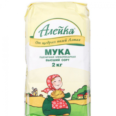 俄罗斯进口高筋面粉 蛋糕面包 饺子粉Aieuka艾利客小麦粉一件代发