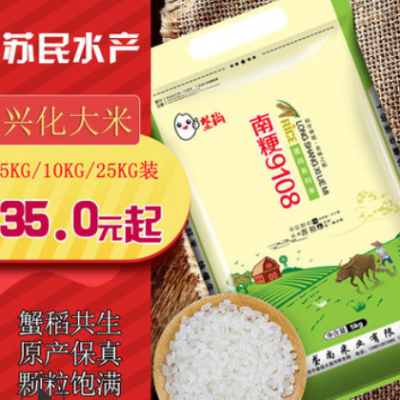 大米厂家批发佳米一町清香软米10斤 珍珠米 苏北粳米兴化大米直批