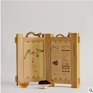 安化黑茶厂家供应 黑茶 礼品订制原生韵手筑黑砖茶 茶叶贴牌